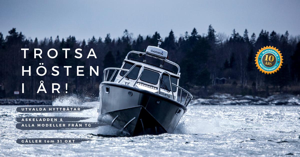 Marindepån kampanj hyttbåtar